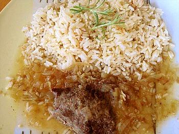 Bio dietní hovězí roštěná, rýže