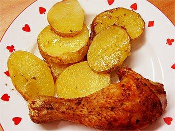 Dietní kuře a pečené brambory