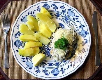 Rybí filé s hlívou ústřičnou a sýrem