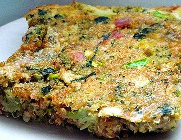 Zapečená brokolice s quinoí