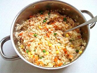 Zeleninové rizoto s lososem