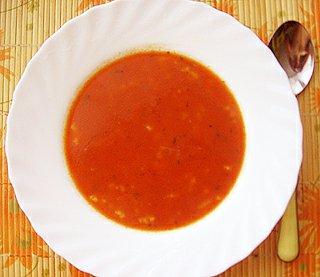Polévka rajčatová s rýží