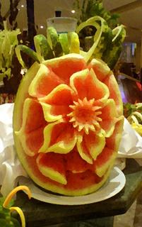 Meloun – ozdobná dekorace