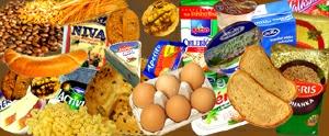 První patro pyramidy tvoří obiloviny, pečivo, mléko...