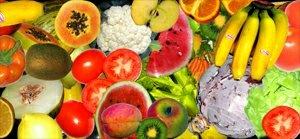 Základnu pyramidy tvoří ovoce a zelenina