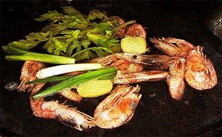 Čínské jídlo mořské plody