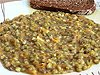 Indické mungo fazole, chléb tmavý