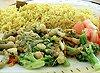 Krevety s brokolicí a kari rýže