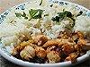 Kuřecí čína, rýže dušená