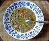 Polévka pohanková s mrkví a hráškem